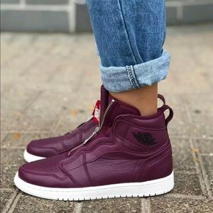 Nike Air Jordan 1 High Retro ZIP Bordeaux NEW 7.5